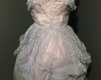 Purple and Pink Tulle Dress