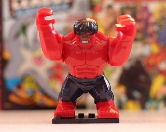 Red Hulk Lego style mini figure