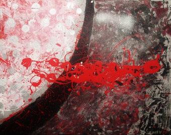 Hand made / Original / acrylic abstract painting