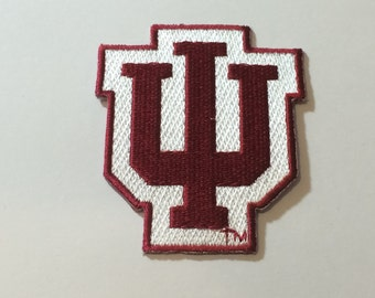 Indiana Hoosiers embroidered Iron on patch.*Choose your Lot size