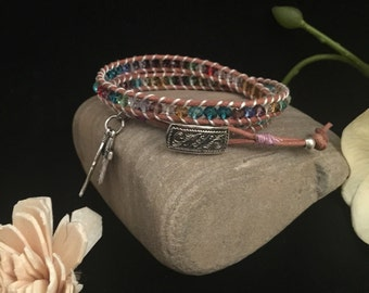 Double Wrap Leather bracelet
