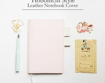 FREE SHIPPING Hobonichi cover, Hobonichi planner cover,Pink and white, B6 size, A5 size| Brushing Pink