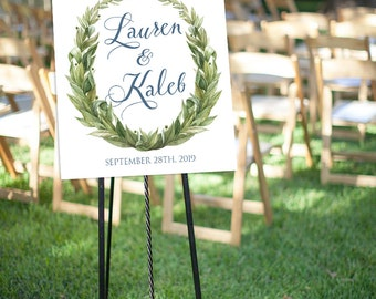 Wedding Welcome Sign, Customized With Your Wedding Details! **Printable Item**