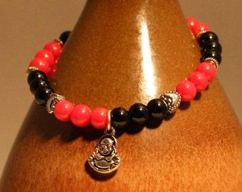 Coral & Onyx Protection Bracelet