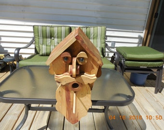Bearded Man Birdhouse