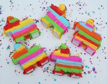 Mini pinata, Pinata, Mexican party favors, Mini piñata, Wedding favors, Mexican fiesta decorations, Fiesta wedding, Donkey pinata, Set of 5