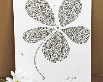 PETALS - Hand Drawn, Pen and Ink, Art Print, illustration, Wall art, Kids Room Art