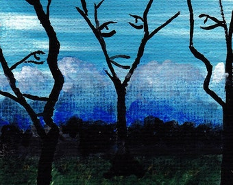 Aceo Original titled:Deceptive by Eric William Night