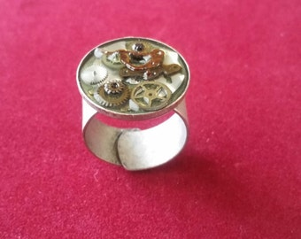 Acrylic and Metal Ring