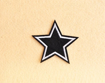 Star Patch - Iron on patch -Sew On patch - Embroidered Patch (Size 7cm x 7.3cm)