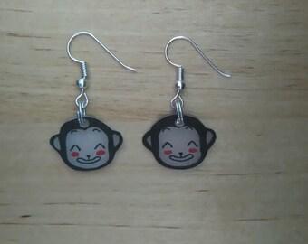 Monkey kawaii earrings 1
