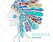 Indianer by GroWidesign SVG DXF Datei Cutting File Cameo Silhouette