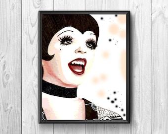 The famous American singer Liza Minnelli