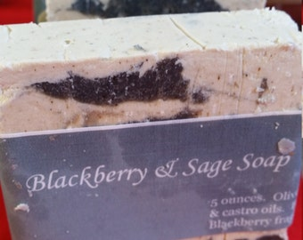Blackberry Sage Soap-handmade-natural soap