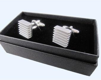 Electronic component steampunk cufflinks (heatsink)
