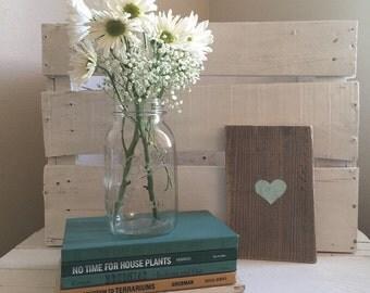 Handmade Heart Wooden Sign