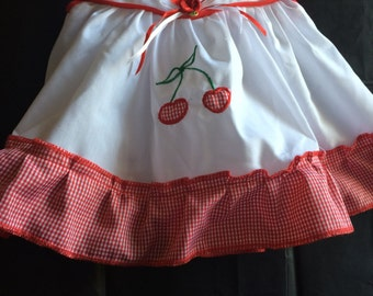Red Plaid Dress and Diaper Cover