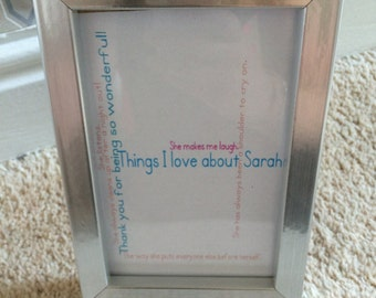 Custom things I love about frame