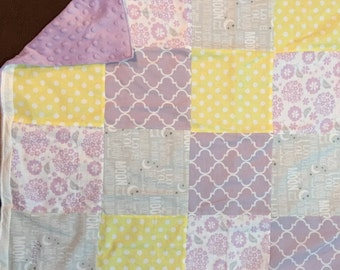 Personalized Baby Quilt - Your Choice of Colors