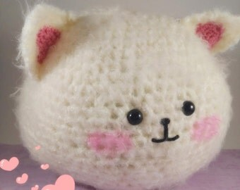 Handmade Crochet Bunny / Cat Tippy from Anime, Is the Order a Rabbit, Amigurumi, Cute Rabbit, Plushie
