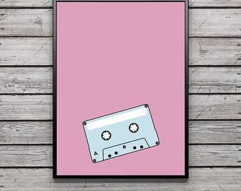Blue & Pink Mix Tape