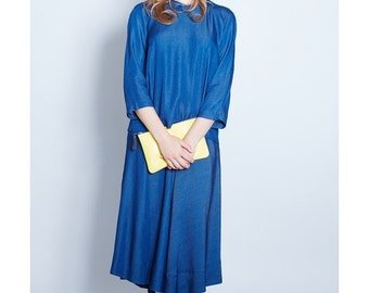 Flared skirt - KENITRA blue JEAN