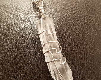 VISION Molybdenite in Quartz Women's Necklace