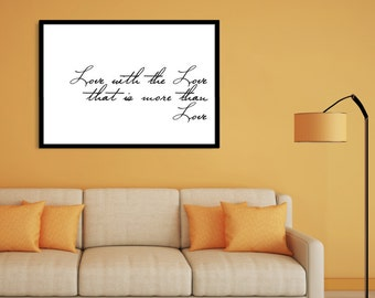 A1 LARGE QOUTE MINIMALIST wall art printable, bedroom, living room decor