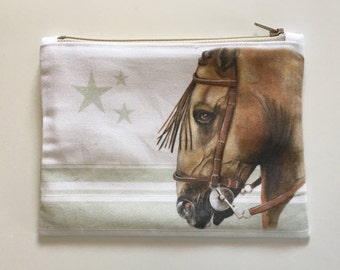 Cover horse Andalusian green soft stripes and stars