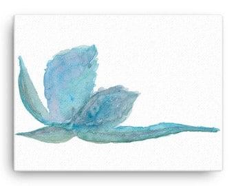 Southwestern Art, Desert Boho, Agave Watercolor Art on Canvas, Cactus Plant Painting, 12X16 Wall Art, Blue-Green Painting, Succulent, Aloe