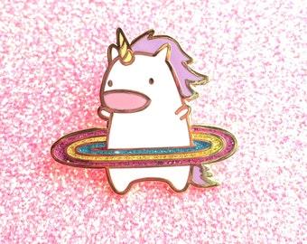 Work it, Hula Unicorn! Hard Enamel Pin (With Glitter!)