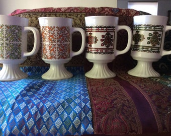 4 Vintage India Style Pattern Tea/Coffee Cups
