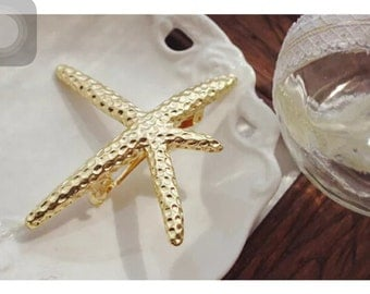 Star fish Starfish barrette Barrette
