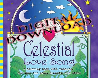 Celestial Love Song digital download coloring book