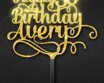 30th birthday cake topper. Thirty cake topper. Custom birthday cake topper. Unique birthday cake topper. Cake decoration.