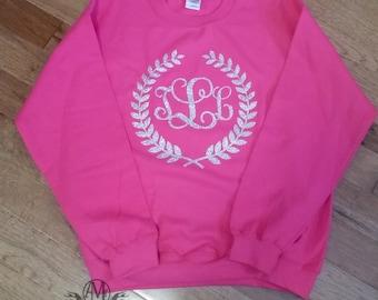 Monogrammed sweatshirts for women, monogram sweatshirt, personalized womens gift, monogramed gifts, gift for women