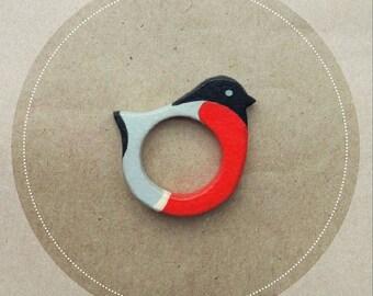 Wooden Ring Bullfinch