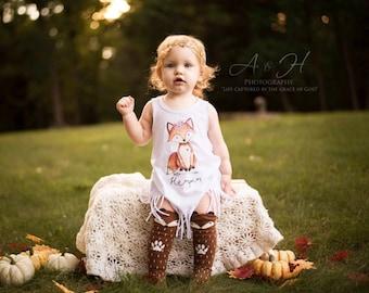 Boho Baby Clothes, Fox Dress, Baby Girl Clothes