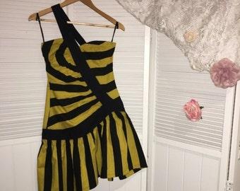 80s Drop Waist Party Dress