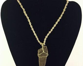 River rock hemp necklace
