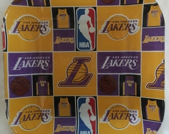 """Los Angeles Lakers 10"""" glass plate"""