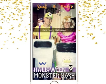 Custom Snapchat Geofilter|| halloween, monster bash, party, hallows eve, costume party, october 31, snapchat filter