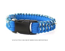 Paracord dog collar / blue dog collar / blue camouflage / blue camo / blue pattern / paracord / rope dog collars / rope dog collar / custom
