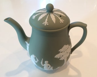 Wedgwood Jasperware teapot in green