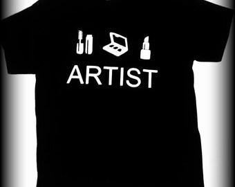 Makeup Artist tshirt, makeup shirt, beauty school shirt, Makeup artist, lipstick shirt, mascara shirt, beautician shirt, S, M, L, XL
