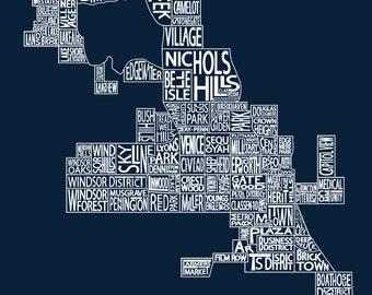 North Oklahoma City Neighborhood Map