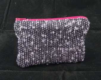 Pink and purple Coin Purse made from Fabric offcuts