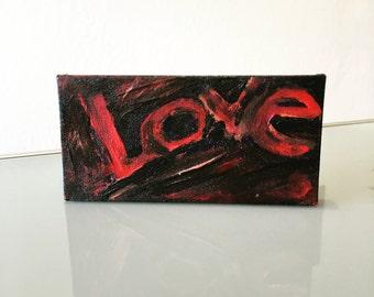 Let Love Rule Mini Painting