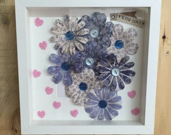 Floral Button,Picture Frame