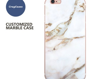 marble iphone 6s case, custom name marble phone case, personalised iPhone case, 6 Plus, 6, 7, 7 plus and 6s Plus (Shipped From UK)
